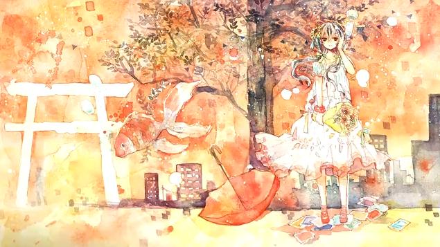 背景、夏に溺れる (Haikei, Natsu ni Oboreru)
