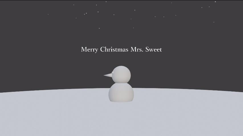 Merry Christmas Mrs. Sweet