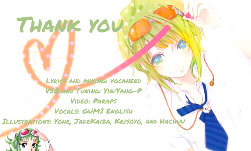 Thank You!/Vocanerd