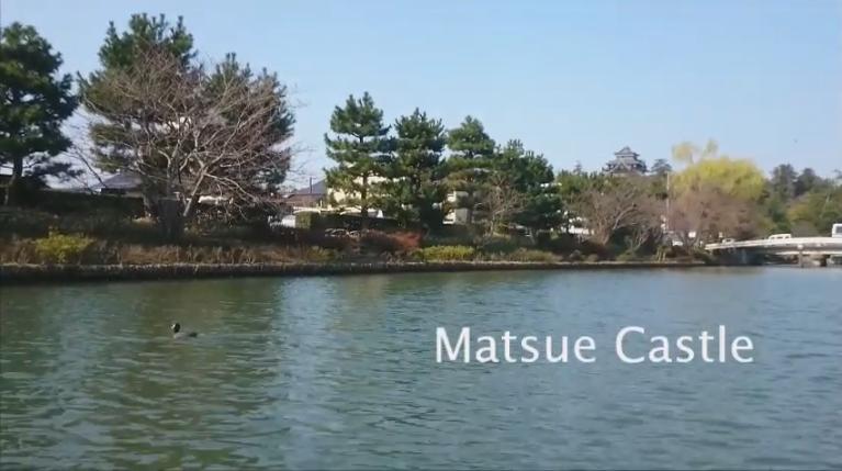 A boat trip tour in Shimane(Matsue Castle)