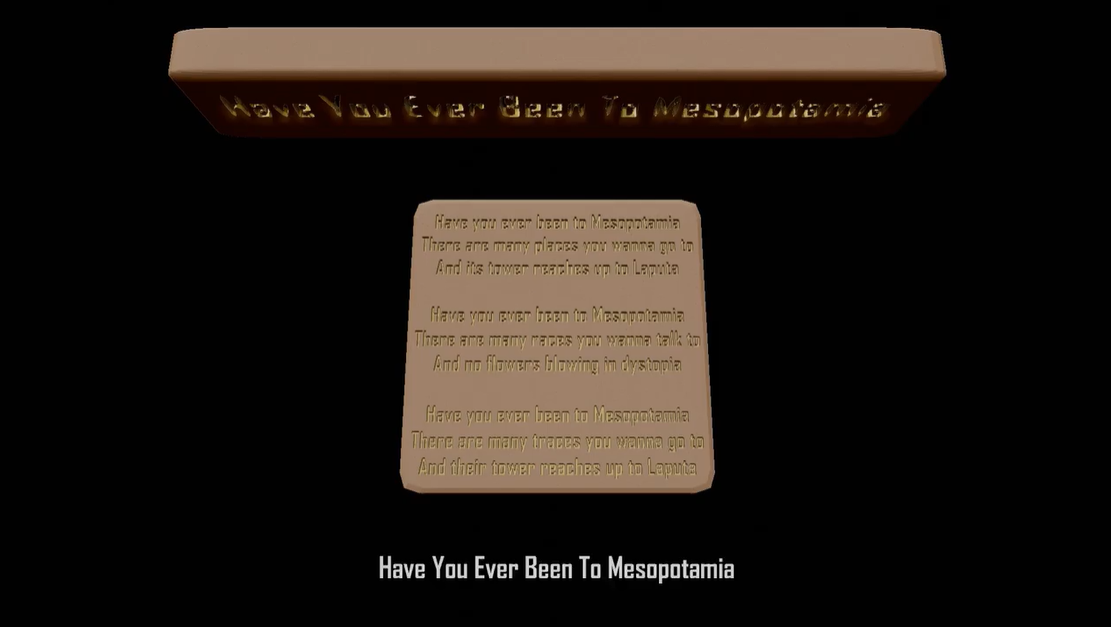 Have You Ever Been To Mesopotamia