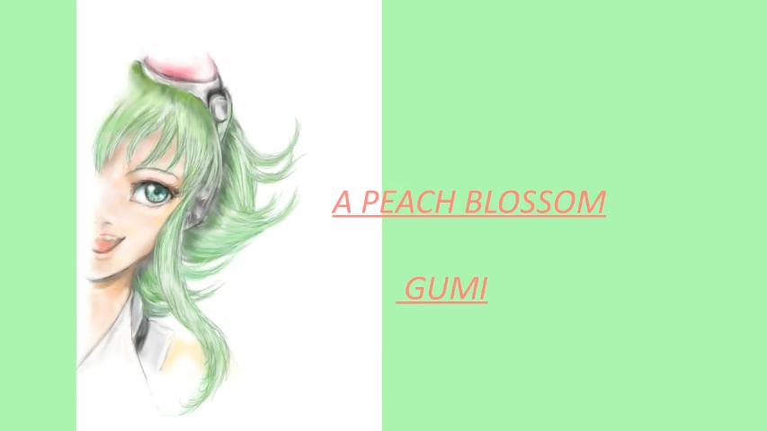 A PEACH BLOSSOM