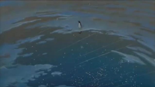She sank into the sea.