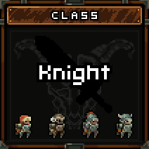 The possible costumes for the Knight.