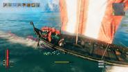 Serpent on ship