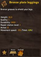 Bronzeleggings craft