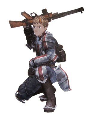 Alex in Valkyria Chronicles.