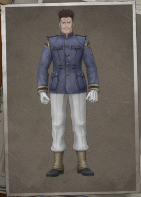 Sergio Mousquelaire in Valkyria Chronicles 4.