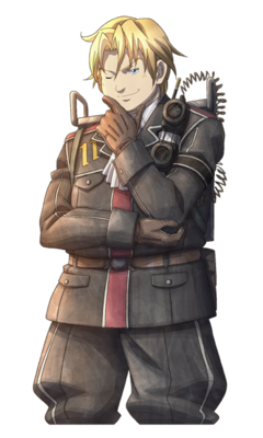 Alfons Auclair in Valkyria Chronicles 3.