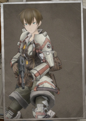 Emmy Mistral in Valkyria Chronicles 4.
