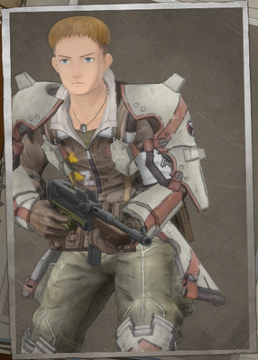 Scott Aldiss in Valkyria Chronicles 4.