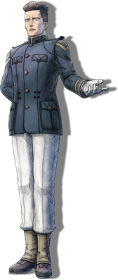 Brian Haddock in Valkyria Chronicles 4.
