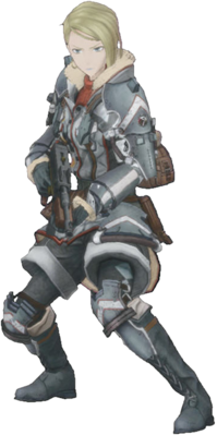 Viola Bryce in Valkyria Chronicles 4.
