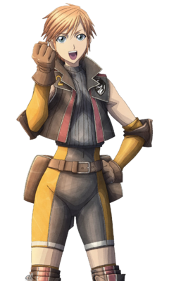 Annika in Valkyria Chronicles 3.