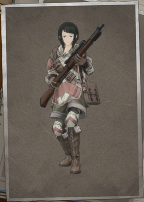 Mabel Drake in Valkyria Chronicles 4.