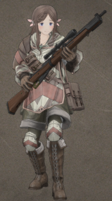 Neige LePreton in Valkyria Chronicles 4.
