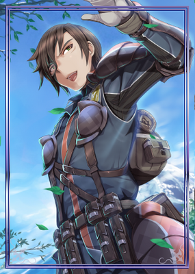 Vyse in Valkyria Chronicles Duel.