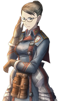 Eleanor in Valkyria Chronicles 3.