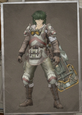 Connor Doherty in Valkyria Chronicles 4.