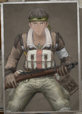 Aulard Abington in Valkyria Chronicles 4.