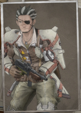 Ryan Ford in Valkyria Chronicles 4.