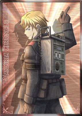 Alfons in Valkyria Chronicles Duel.