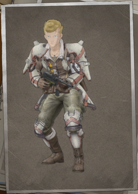 Stanley Barclay in Valkyria Chronicles 4.