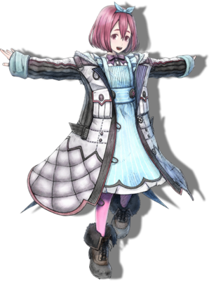 Angelica Farnaby in Valkyria Chronicles 4.