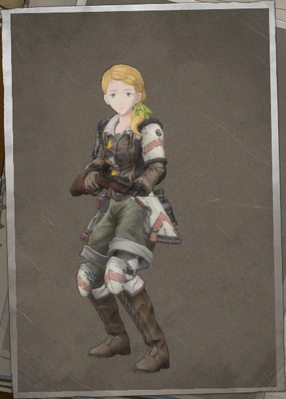 Millennia Hudson in Valkyria Chronicles 4.