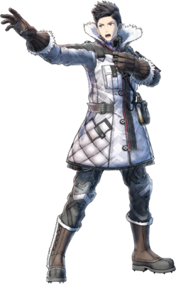 Claude Wallace in Valkyria Chronicles 4.