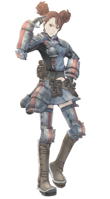 Rosie in Valkyria Chronicles.