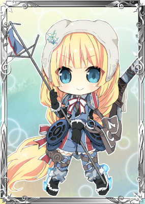 Edelweiss-chan in Valkyria Chronicles Duel.