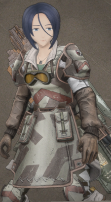 Aoife in Valkyria Chronicles 4.