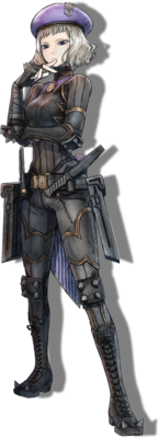 Nikola Graf in Valkyria Chronicles 4.