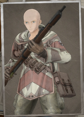 Aladdin Ballard in Valkyria Chronicles 4.