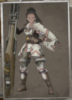 Jean Matrix in Valkyria Chronicles 4.