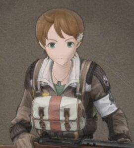 Eileen Blackwell in Valkyria Chronicles 4.