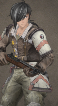 Thomas Kevin in Valkyria Chronicles 4.