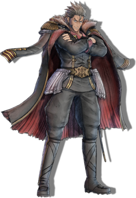 Klaus Walz in Valkyria Chronicles 4.