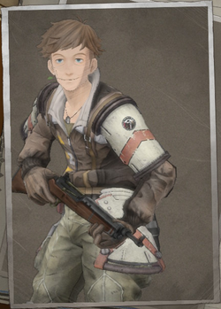 Jester Mooney in Valkyria Chronicles 4.