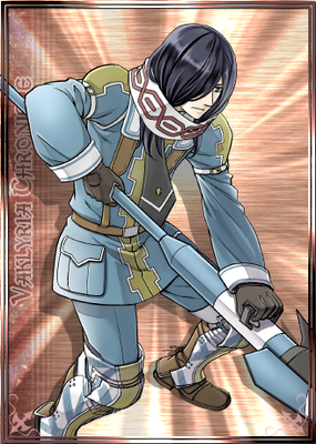 Jugin in Valkyria Chronicles Duel.