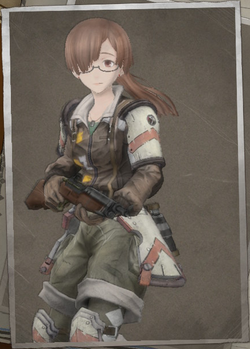 Teresa Leach in Valkyria Chronicles 4.