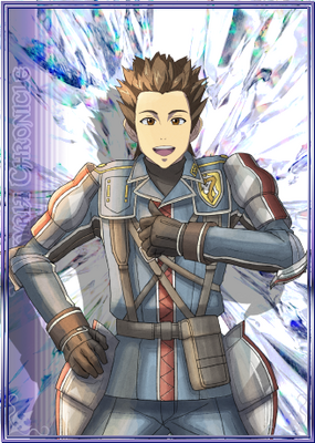 Ted in Valkyria Chronicles Duel.