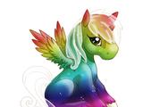 Rainbow Heaven Alicorn