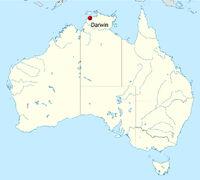 Lage Darvin: 12° 27′ S, 130° 50′ O
