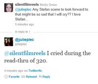 Julie Plec Tweet