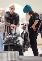 Phoebe and Claire at New Orleans airport
