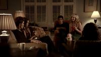 103-065~Elena~Stefan~Damon~Bonnie~Caroline-Gilbert House