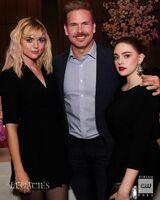 2019-05-16-CW Upfronts-After party-Jenny Boyd-Matt Davis-Danielle Rose Russell-cwlegacies