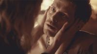 Silas as Caroline touching Klaus 4x18..